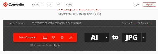 Online AI to JPG converter