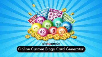 Online Custom Bingo Card Generator