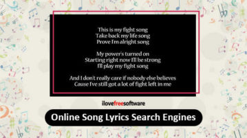 Online Song Lyrics Search Engines