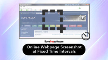 Online webpage screenshot at fixed time intervals