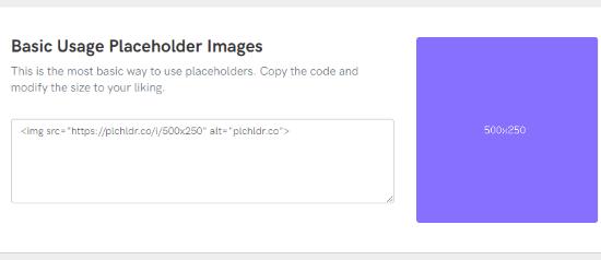 Plchldr website