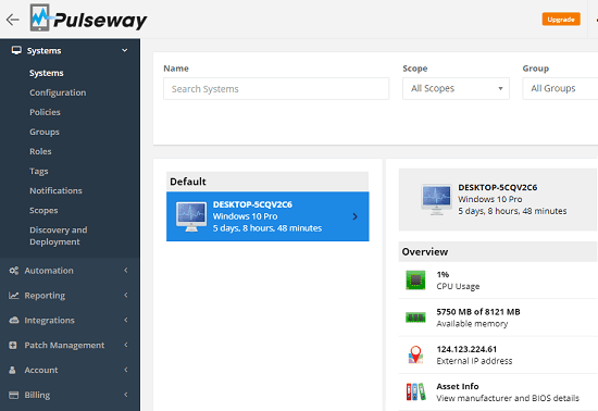 Pulseway remote monitoring and management tool