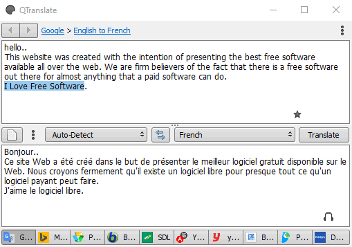 QTranslate- interface