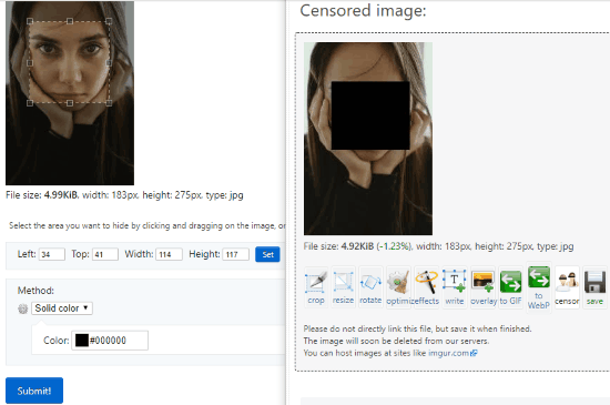 Redact Images Online