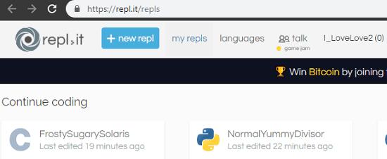 Repl.it login