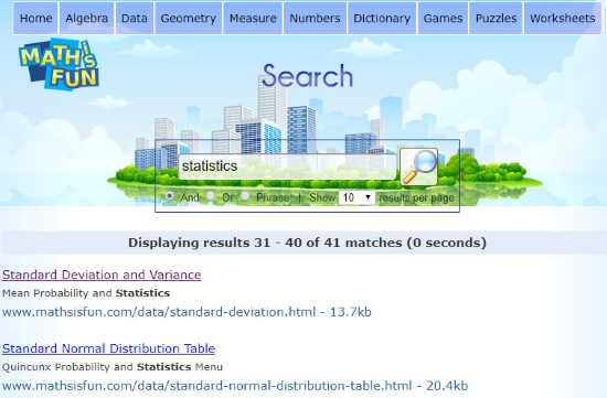 Search Engine for Math