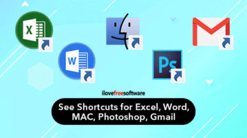 See Shortcuts for Excel, Word, MAC, Photoshop, Gmail