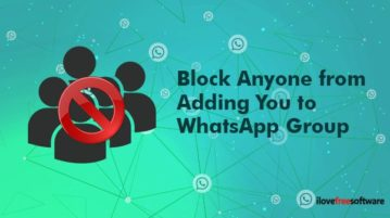 block anyone from adding you to whatsapp group