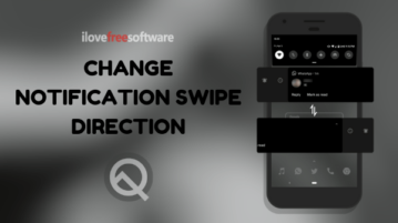 How to Change Notification Swipe Direction in Android Q?