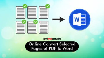 convert selected pages of pdf to word