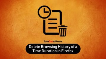 delete browsing history of a particular time duration in firefox
