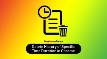 delete browsing history of specific time duration in chrome