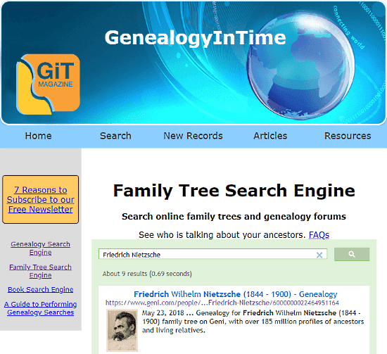 genealogy search engine