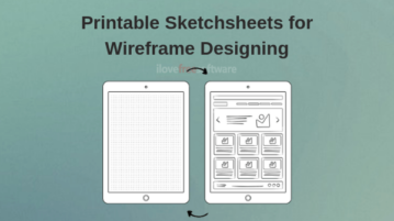 Get Printable Sketchsheet Templates for Wireframe Designing Free