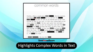 highlight complex words in text
