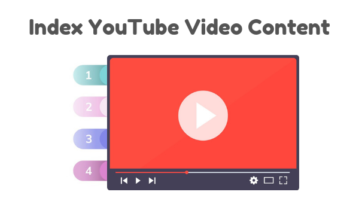 How to Create Index for YouTube Video Content?