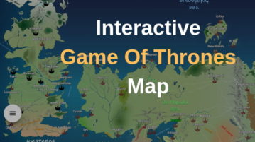 Recap All Game of Thrones Episodes with Interaction GOT Map