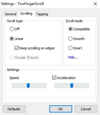 2-finger scroll on windows laptop