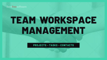 Free Team Workspace Tool to Manage Projects, Tasks, Contacts Online