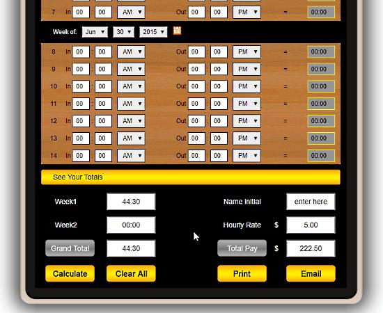 free online long timesheet calculator