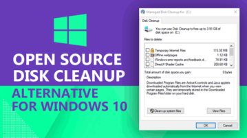 open source disk cleanup alternative for windows 10