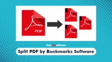 split pdf by bookmarks software
