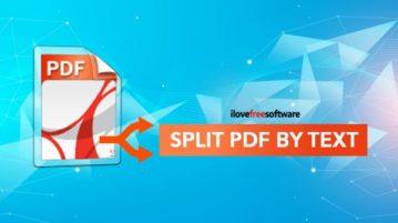 split pdf by text