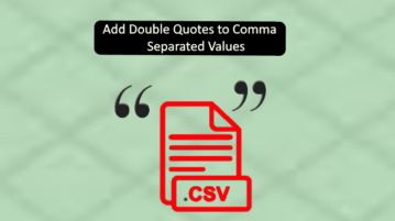 Add double quotes to command separated values