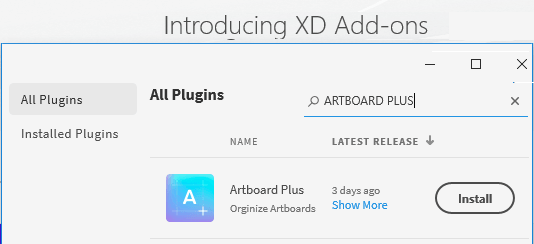 Adobe XD plugin install