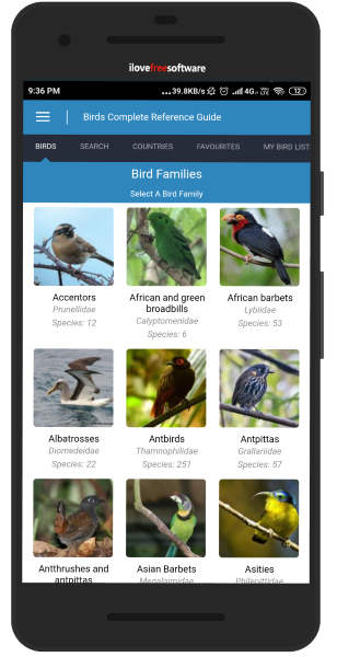 Bird guide Android app