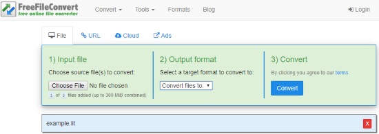 Convert LIT to PDF Online