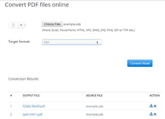 Convert ODS to PDF Online with Free Websites