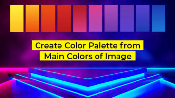 Create Color Palette from Main Colors of Image