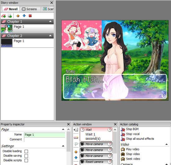 Customize visual novel