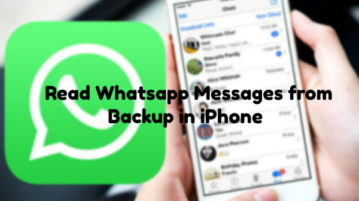 Extract Whatsapp Messages from iPhone Backup