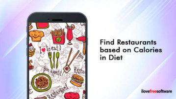 Find restaurants based on calories in diet