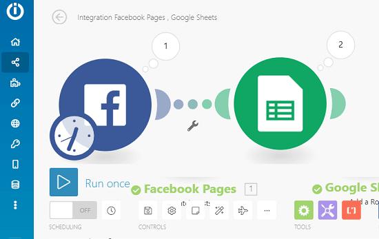 Facebook to Google Sheet configuration