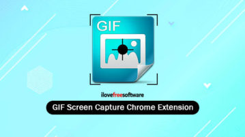 GIF screen capture Chrome extension