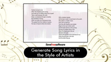 Generate Song Lyrics in the Style of Artists