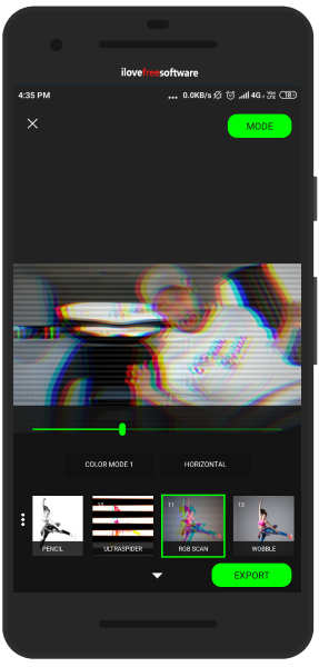 Glitch GIF maker Android app