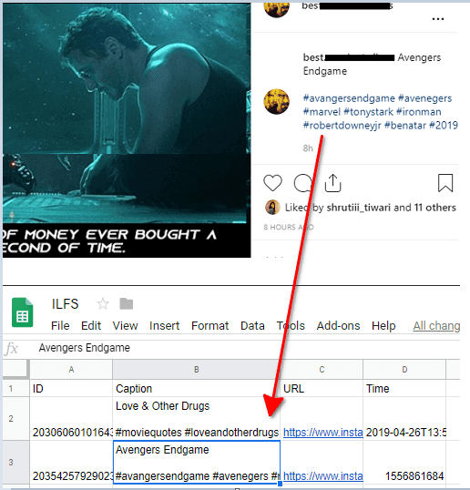 How to Instagram to Google Sheets