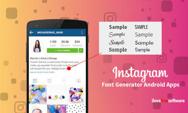 10 Free Instagram Font Generator Android Apps There is new font styles based on specials characters.
