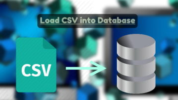 Load CSV into database from command line in windows