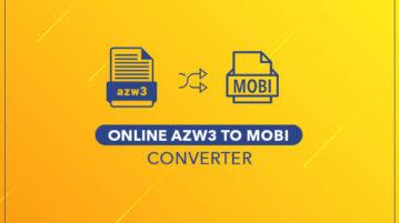 Online AZW3 to MOBI converter