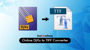 Online DJVU to TIFF Converter