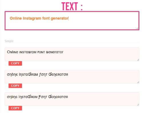 10 Online Instagram Font Generator for Instagram Bio, Captions