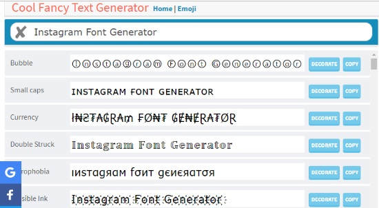 10 Online Instagram Font Generator for Instagram Bio, Captions