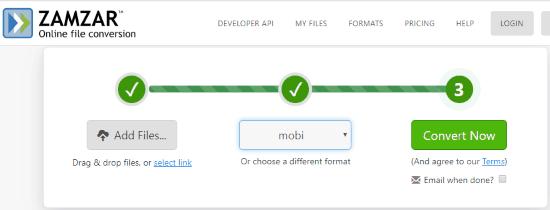 Online LIT to MOBI Converter