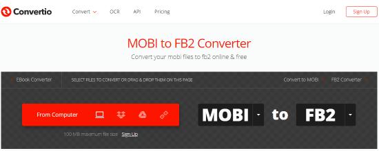 Online MOBI to FB2 Converter