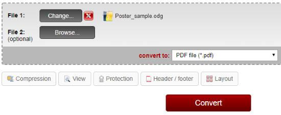 Online ODG to PDF converter